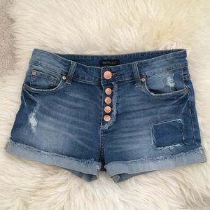 STS Distressed Button Fly Denim Jean Shorts